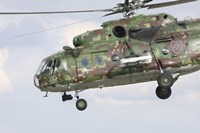 Slovak Air Force Mi-17 Hip in digital camouflage Fine Art Print