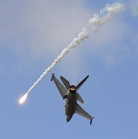 F-16AM Fighting Falcon spitting Flare by Timm Ziegenthaler - various sizes - $30.49