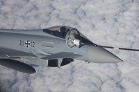 German Air Force Eurofighter Typhoon during in-Flight Refueling by Timm Ziegenthaler - various sizes - $46.99