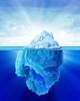 Solitary Iceberg in the Sea by Leonello Calvetti - various sizes