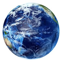 3D rendering of Planet Earth, Centered on the Pacific Ocean by Leonello Calvetti - various sizes