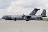 C-130J Super Hercules with a C-17 Globemaster Fine Art Print