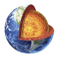 Cross section of Planet Earth Showing the Lower Mantle Fine Art Print