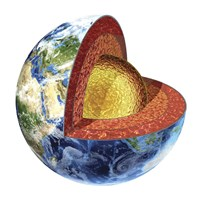 Cross Section of Planet Earth Showing the Outer Core Fine Art Print