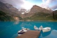 British Columbia, Yoho NP, Boats on Lake Ohara by Jaynes Gallery - various sizes