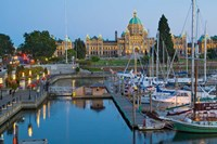 The Inner Harbor at Victoria, British Columbia Fine Art Print
