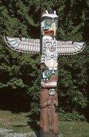Totem Pole at Stanley Park, Vancouver Island, British Columbia, Canada Fine Art Print