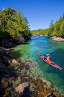 British Columbia, Vancouver Island, Sea kayakers Fine Art Print