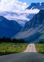 Road into the Mountains of Banff National Park, Alberta, Canada Fine Art Print