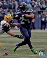 Marshawn Lynch NFC Championship Game Action 2014 Playoffs Fine Art Print