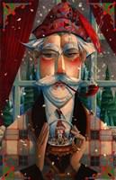 His Winter Diversion Fine Art Print