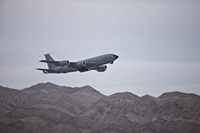 A KC-135 Stratotanker Takes off from Nellis Air Force Base, Nevada Fine Art Print