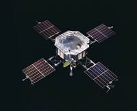 The Mariner 5 spacecraft Against a Black Background Fine Art Print