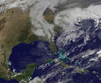 Satellite View of a Nor'easter Storm over the United States - various sizes