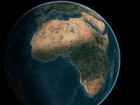 Full Earth from Space Above the African Continent Fine Art Print