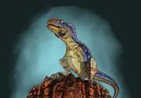 Majungasaurus, a Theropod Dinosaur from the Cretaceous Period - various sizes