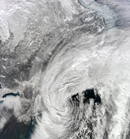Satellite View of a Large Nor'easter - various sizes