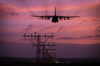 A C-130J Super Hercules landing at Ramstein Air Base, Germany by Timm Ziegenthaler - various sizes
