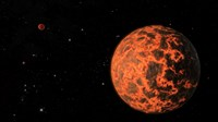 Artist's Concept of an Exoplanet Known as UCF-101, Orbiting a Star called GJ 436 - various sizes