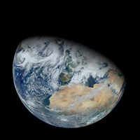 Synthesized view of Earth Showing North Africa and Southwestern Europe - various sizes