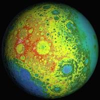 Lunar Topography Globe - various sizes
