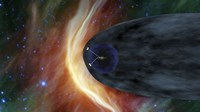 NASA's Two Voyager Spacecraft Exploring a Turbulent Region of Space - various sizes, FulcrumGallery.com brand