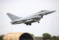 German Eurofighter taking off from Albacete Airfield, Spain by Timm Ziegenthaler - various sizes - $47.99