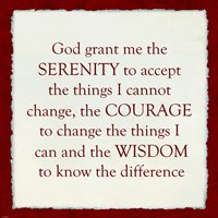 Serenity Prayer - Red Border Fine Art Print