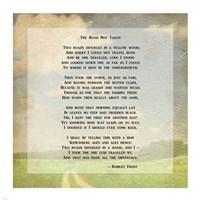 Robert Frost Road Less Traveled Poem Fine Art Print