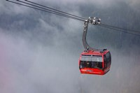 British Columbia, Whistler, Skiing Gondola Fine Art Print