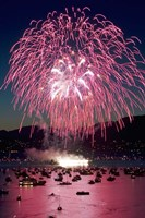 Fireworks, English Bay, Vancouver, British Columbia Fine Art Print