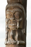 Gitksan totem pole, Kispiox Village, British Columbia Fine Art Print