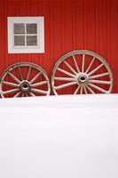 Martin Stables, Window and Wheel Detail, Banff, Alberta by Michele Westmorland - various sizes