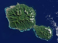 Satellite View of Tahiti Fine Art Print