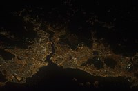 A Nighttime view of Istanbul, Turkey - various sizes