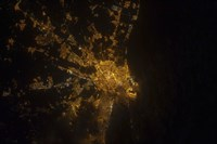 Nighttime image of Valencia on the Mediterranean Coast of Spain - various sizes