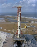 High Angle View of the Apollo 4 Spacecraft on the Launch Pad - various sizes