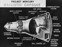 Cutaway Drawing of the Project Mercury Ballistic Capsule - various sizes