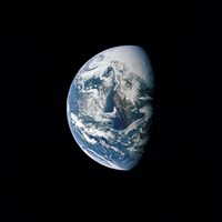 View of Earth taken from the Apollo 13 Spacecraft Fine Art Print