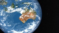 Planet Earth showing Clouds over Australia - various sizes