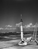 Launching of the Mercury-Redstone 3 Rocket from Cape Canaveral, Florida - various sizes