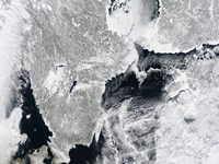 Sea ice lines the Coasts of Sweden and Finland in this Satellite View - various sizes