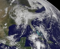 Satellite view of a Low Pressure area over the United States - various sizes