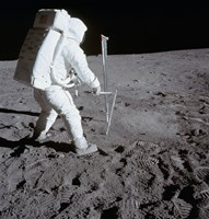 Astronaut during Apollo 11 Extravehicular Activity on the Moon - various sizes, FulcrumGallery.com brand
