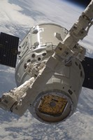 The SpaceX Dragon Commercial Cargo Craft during Grappling Operations with Canadarm2 - various sizes
