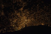 Nighttime image of Portugal Showing City Lights of Porto and Vila de Gaia - various sizes