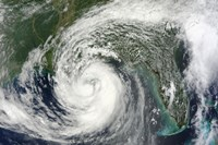 Hurricane Isaac in the Gulf of Mexico - various sizes