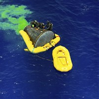 A US Navy Frogman Team Helps in the Recovery of the Gemini-Titan 4 spacecraft - various sizes