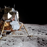 View of the Apollo 14 Lunar Module on the Moon - various sizes