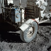 A Close-up view of the Lunar Roving Vehicle during Apollo 17 EVA - various sizes